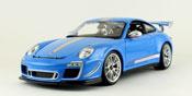 Porsche 911 GT3 RS 4.0, scale 1:18 in Blue by Bburago, miniature diecast scale model car.