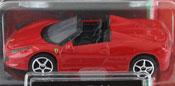 Ferrari 458 Spider, size 3inch in Red by Bburago, diecast miniature scale model car.