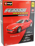 Ferrari FF- Kit, scale 1:32 in Red by Bburago, diecast miniature scale model car.