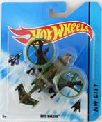 Roto Warrior in Green by HotWheels, diecast miniature scale model plane toy, Hotwheels plane, Hot Wheels toy.