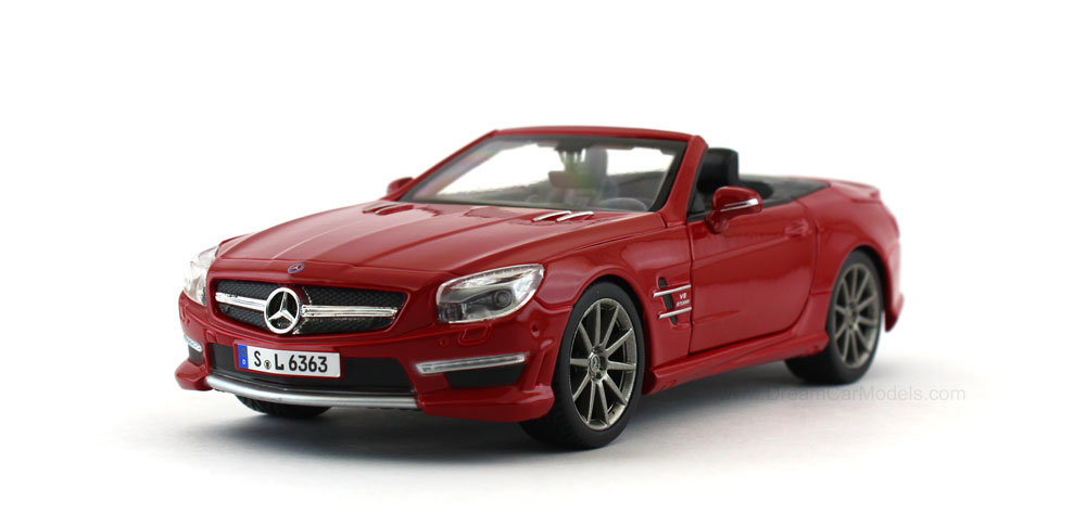 Home diecast scale models cars mercedes benz sl 63 amg for Miniature mercedes benz models