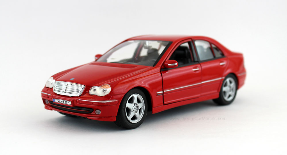 Home diecast scale models cars mercedes benz c class scale for Miniature mercedes benz models