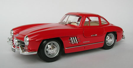 Mercedes benz 300 sl 1954 scale 1 18 in red by for Miniature mercedes benz models