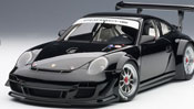 Porsche 911 (997) GT3 R 2010 Plain Body Version, scale 1:18 in Black by AUTOart, premium diecast miniature scale model car