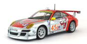 Porsche 911 GT3 RSR, scale 1:24 in Red-Silver by Bburago, diecast miniature scale model race car,