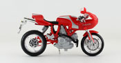Ducati MH900E, scale 1:18 in Red-Silver by Bburago, diecast miniature scale model bike