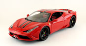 Ferrari 458 Speciale - Signature Series, scale 1:18 in Red by Bburago, diecast miniature scale model Ferrari car.