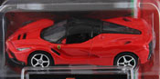 La Ferrari, size 3inch in Red by Bburago, diecast miniature scale model car.