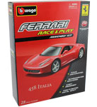 Ferrari 458 Italia - Kit, scale 1:32 in Red by Bburago
