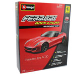 Ferrari 599 GTO - Kit, scale 1:32 in Red by Bburago