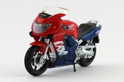 Honda CBR 600F, scale 1:18 in Red-Blue by Bburago, diecast miniature scale model bike