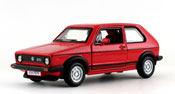 Volkswagen Golf Mk1 GTI, scale 1:32 in Red by Bburago, diecast miniature scale model car.