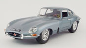 Jaguar E Coupe 1961, scale 1:18 in Bluish Silver by Bburago, diecast scale model car, toy car, kids toys, toys for boys, vehicle toys, licensed automobile miniature replica model vehicle