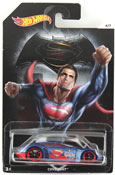 Covelight - Superman (Dawn of Justice) in Blue-Red by HotWheels, diecast miniature scale model car toy, Hotwheels car, Hot Wheels toy, Batman V Superman character car.
