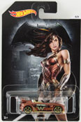 Tantrum - Wonder Woman (Dawn of Justice) in Brown by HotWheels, diecast miniature scale model car toy, Hotwheels car, Hot Wheels toy, Batman V Superman character car.