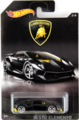Lamborghini Sesto Elemento in Black by HotWheels, diecast miniature scale model car toy, Hotwheels car, Hot Wheels toy, Hot Wheels Lamborghini collection.