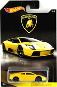 Lamborghini Murcielago in Yellow by HotWheels, diecast miniature scale model car toy, Hotwheels car, Hot Wheels toy, Hot Wheels Lamborghini collection.