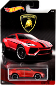 Lamborghini Urus in Red by HotWheels, diecast miniature scale model car toy, Hotwheels car, Hot Wheels toy, Hot Wheels Lamborghini collection.