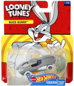 Bugs Bunny in Grey by HotWheels, diecast miniature scale model car toy, Hotwheels car, Hot Wheels toy car, Looney Tunes character car.