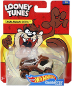 Tasmanian Devil in Brown by HotWheels, diecast miniature scale model car toy, Hotwheels car, Hot Wheels toy car, Looney Tunes character car.