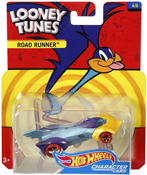 Road Runner in Blue-Yellow by HotWheels, diecast miniature scale model car toy, Hotwheels car, Hot Wheels toy car, Looney Tunes character car.