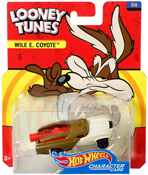 Wile E. Coyote in Brown-Beige by HotWheels, diecast miniature scale model car toy, Hotwheels car, Hot Wheels toy car, Looney Tunes character car.