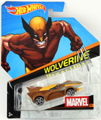 Wolverine in Brown by HotWheels, diecast miniature scale model car toy, Hotwheels car, Hot Wheels toy, Marvel character car.