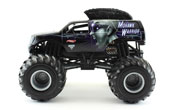 Mohawk Warrior in Black by HotWheels, diecast miniature scale model monster jam truck toy, Hotwheels monster truck, Hot Wheels toy.