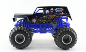 Son-Uva Digger in Black-Blue by HotWheels, diecast miniature scale model monster jam truck toy, Hotwheels monster truck, Hot Wheels toy.