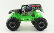 Grave Digger in Black-Green by HotWheels, diecast miniature scale model monster jam truck toy, Hotwheels monster truck, Hot Wheels toy.