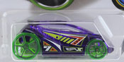 Vandetta in Purple by HotWheels, diecast miniature scale model car toy, Hotwheels car, Hot Wheels toy.