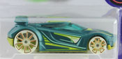 Chicane in Green by HotWheels, diecast miniature scale model car toy.