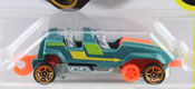 Loopster in Green-Orange by HotWheels, diecast miniature scale model car toy.