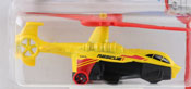 Sky Knife in Yellow-Red by HotWheels, diecast miniature scale model car toy, Hotwheels car, Hot Wheels toy.