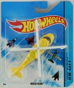 Rescue Blade in Yellow-Red by HotWheels, diecast miniature scale model helicopter toy, Hotwheels helicopter, Hot Wheels toy.