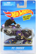 Pit Cruiser in Purple by HotWheels, diecast miniature scale model bike toy, Hotwheels bike, Hot Wheels toy.