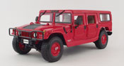 Hummer 4 Door Wagon, scale 1:18 in Red by Maisto, diecast scale model car