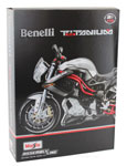 Benelli Titanium TNT - Assembly Kit, scale 1:12 in Silver-Black by Maisto, diecast miniature scale model bike kit