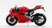 Ducati 1199 PANIGALE, scale 1:18 in Red by Maisto, diecast miniature scale model bike