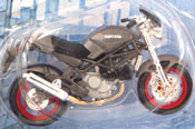 Ducati, scale 1:18 in Grey by Maisto, miniature diecast scale model bike