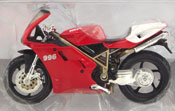 Ducati 996, scale 1:18 in Red by Maisto, miniature diecast scale model bike
