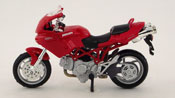 Ducati Multistrada 1000 DS, scale 1:18 in Red by Maisto, diecast scale model bike, toy bike, kids toys, toys for boys, vehicle toys, licensed automobile miniature replica model vehicle
