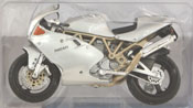 Ducati Super Sport 900FE, scale 1:18 in Silver by Maisto, miniature diecast scale model bike