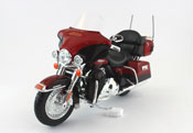 FLHTK Electra Glide Ultra Limited 2013 - Harley Davidson, scale 1:12 in Red-Black by Maisto, diecast miniature scale model bike