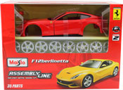 Ferrari F12 Berlinetta, Assembly Kit, scale 1:24 in Red by Maisto, diecast miniature scale model car, model car assembly kit.