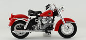 FLH Duo Glide 1958- Harley Davidson, scale 1:18 in Red by Maisto, diecast miniature scale model bike