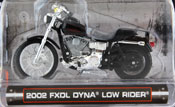 FXDL Dyna Low Rider 2002, scale 1:24 in Black by Maisto