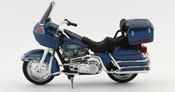 FLT Tour Glide 1980- Harley Davidson, scale 1:18 in Blue by Maisto, diecast miniature scale model bike