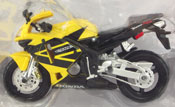 Honda CBR 600RR, scale 1:18 in Black-Yellow by Maisto, miniature diecast scale model bike