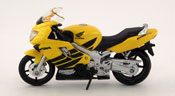 Honda CBR 600 F4, scale 1:18 in Yellow by Maisto, diecast scale model bike